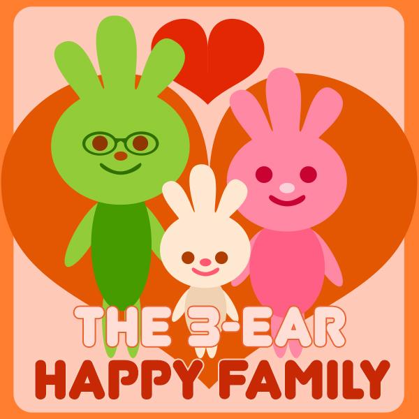 The 3-Ear Happy Family