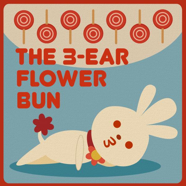 The 3-ear Flower Bun