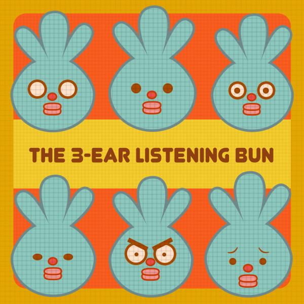 The 3-ear Listening Bun